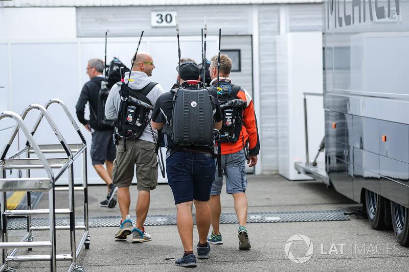 Seguimiento equipo de vista en el paddock