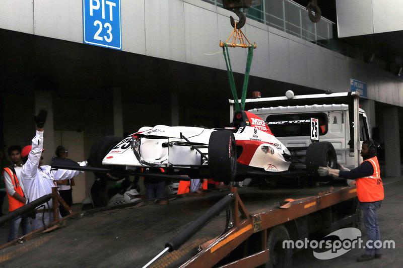 Mick Schumacher na zijn crash
