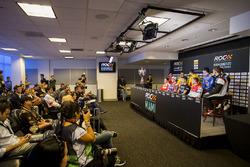 Press Conference with Sebastian Vettel, Travis Pastrana, Pascal Wehrlein, Tom Kristensen, Gabby Chaves, Juan Pablo Montoya, Ryan Hunter-Reay, Alexander Rossi, Scott Speed, Stefan Rzadzinski