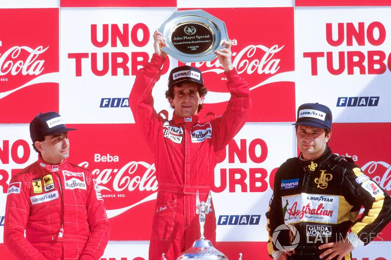 Podium: 1. Alain Prost, McLaren TAG Porsche, 2. Michele Alboreto, Ferrari, 3. Elio de Angelis, Lotus Renault