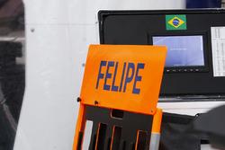 Boxentafel für Felipe Massa, Williams FW40