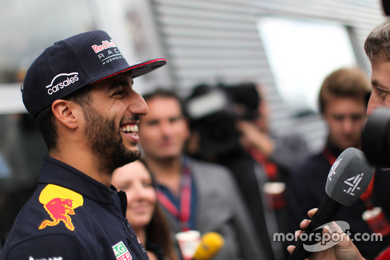Daniel Ricciardo, Red Bull Racing talks to the media