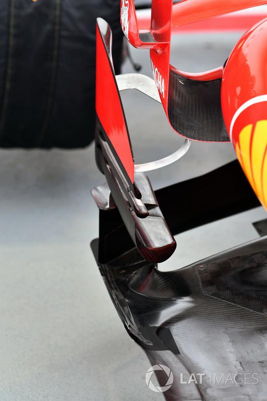 Vue détaillée d'un déflecteur de la Ferrari SF70H