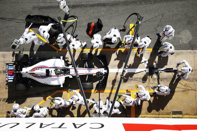 Тренировка пит-стопа для   Фелипе Массы, Williams FW40