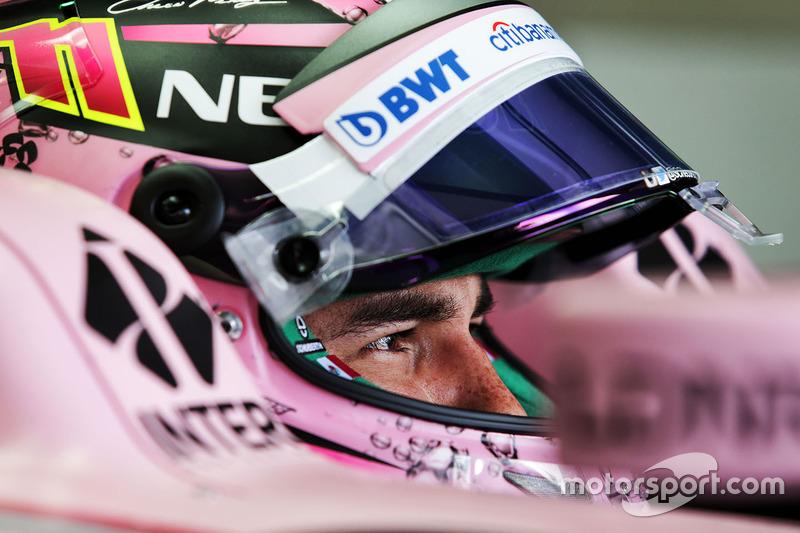 Casco de Sergio Perez, Sahara Force India F1