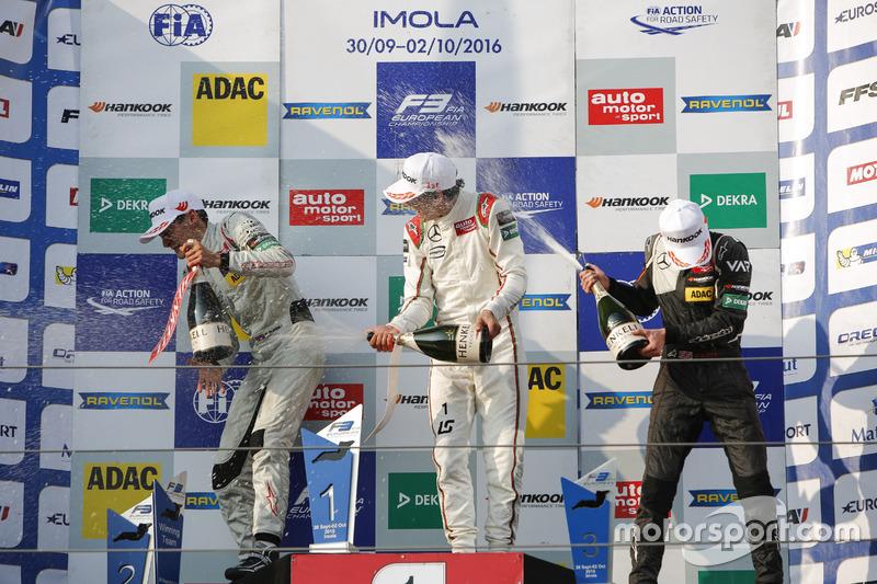 Podium: George Russell, HitechGP Dallara F312 – Mercedes-Benz; Lance Stroll, Prema Powerteam Dallara