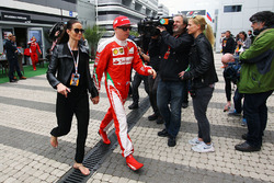 Kimi Raikkonen, Ferrari with his wife Minttu Virtanen