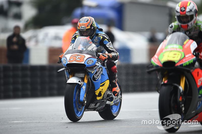 Tito Rabat, Marc VDS Racing Honda sulla griglia di partenza