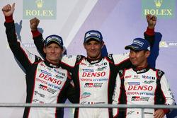Podium: 3. #6 Toyota Racing, Toyota TS050 Hybrid: Stéphane Sarrazin, Mike Conway, Kamui Kobayashi