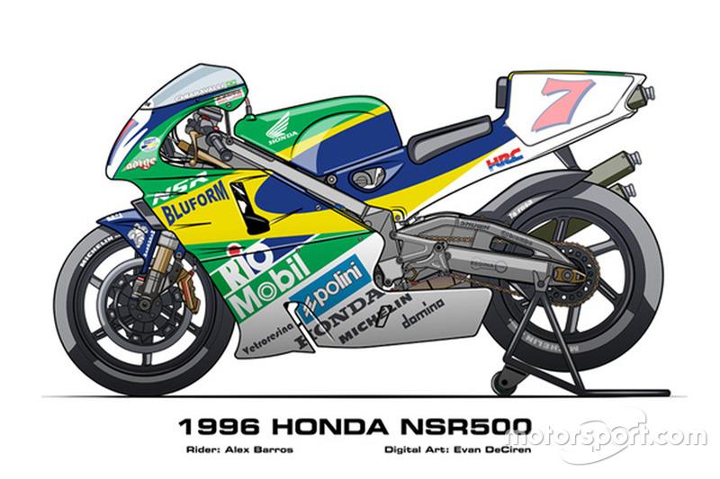 NSR500 de Alex Barros em 1996