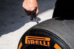 check the Pirelli tyre