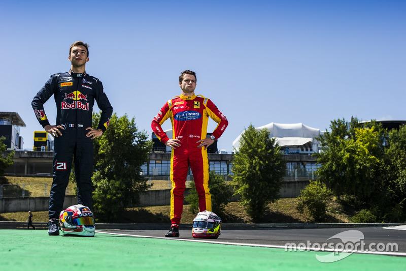 Pierre Gasly, PREMA Racing and Jordan King, Racing Engineering