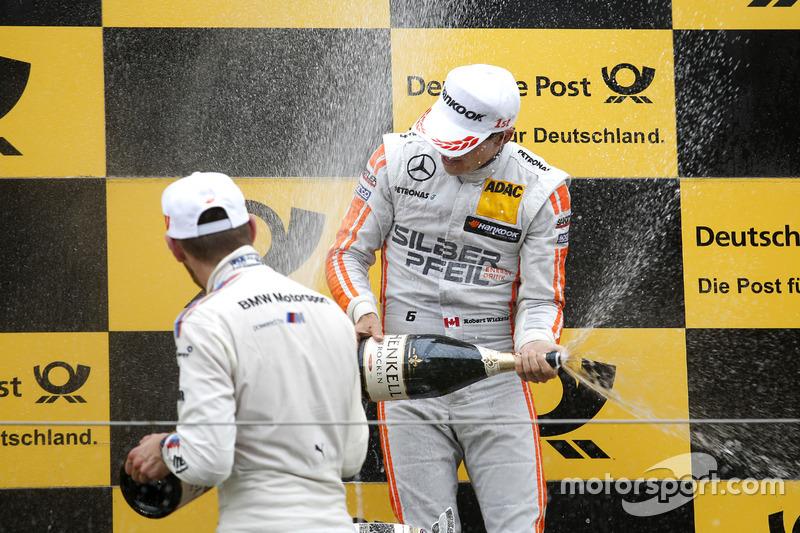 Podium: Robert Wickens, Mercedes-AMG Team HWA, Mercedes-AMG C63 DTM and Marco Wittmann, BMW Team RMG, BMW M4 DTM