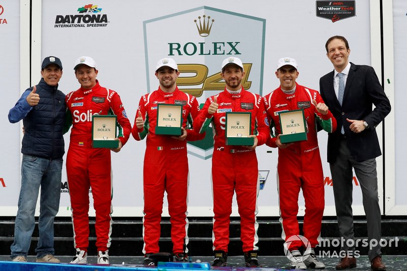 #25 BMW Team RLL BMW M8 GTE, GTLM: Augusto Farfus, Connor De Phillippi, Philipp Eng, Colton Herta, podium