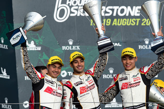 Podium LMP2: second place #37 Jackie Chan DC Racing Oreca 07 Gibson: Jazeman Jaafar, Weiron Tan, Nabil Jeffri