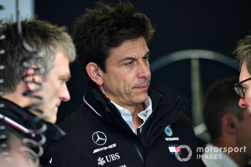 (L to R): James Allison, Mercedes AMG F1 Technical Director and Toto Wolff, Mercedes AMG F1 Director of Motorsport
