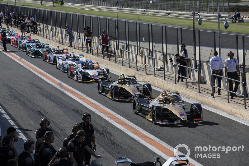 Uji coba balapan: Andre Lotterer, DS TECHEETAH, DS E-Tense FE19 and Jean-Eric Vergne, DS TECHEETAH, DS E-Tense FE19