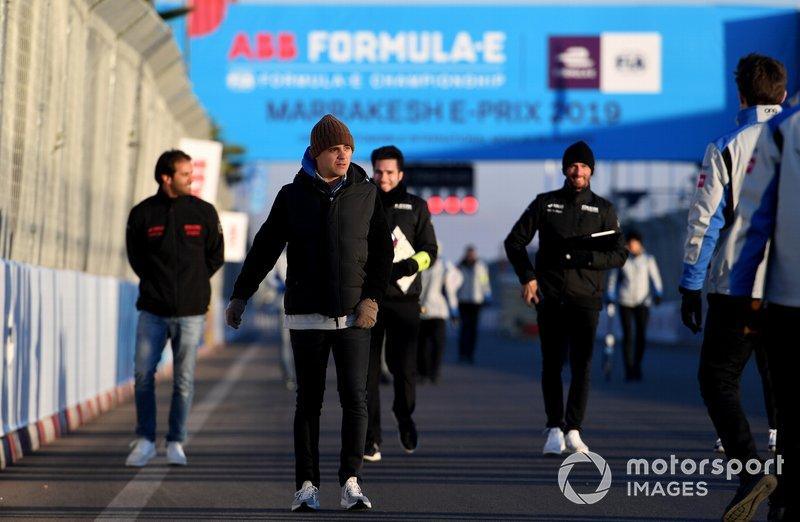 Felipe Massa, Venturi Formula E, walks the track