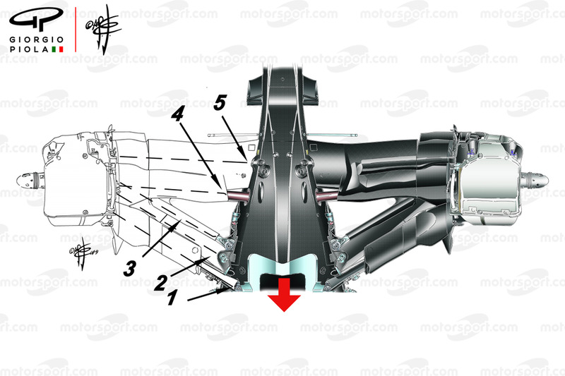 Mercedes W10 rear suspension