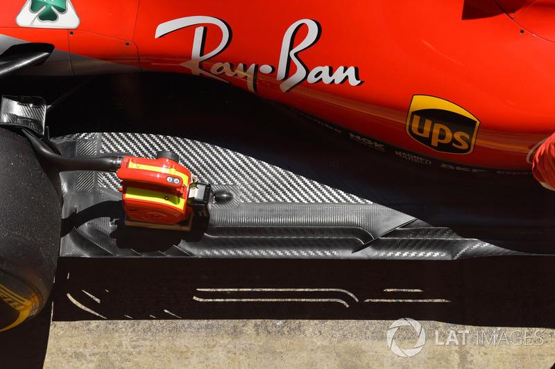 Деталі днища Ferrari SF71H