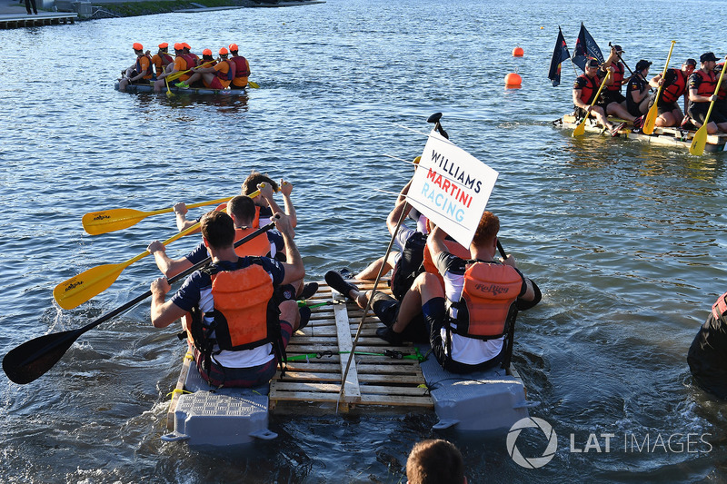 Williams at the raft race
