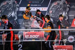 Podium: Race winner #63 GRT Grasser Racing Team Lamborghini Huracan GT3: Mirko Bortolotti, Christian Engelhart, second place #2 Belgian Audi Club Team WRT Audi R8 LMS: Will Stevens, Dries Vanthoor, third place #1 Belgian Audi Club Team WRT Audi R8 LMS: Alex Riberas, Christopher Mies