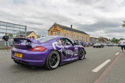 Porsche on public road at Le Mans