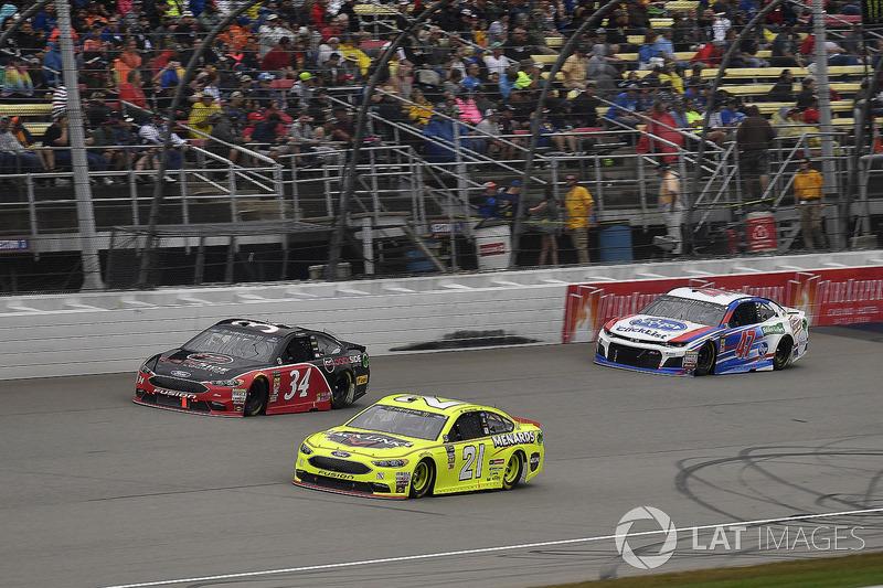Paul Menard, Wood Brothers Racing, Ford Fusion Menards / Jack Links, \c34, and A.J. Allmendinger, JT