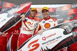 Podium: Race winners Alexandre Prémat, Scott McLaughlin, DJR Team Penske