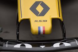 Vue détaillée du nez de la R.S. 18, Renault Sport F1 Team