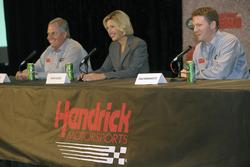 Dale Earnhardt Jr., Dawn Hudson, Rick Hendrick