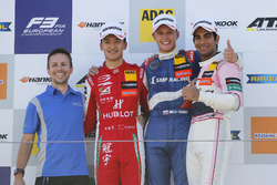 Podium: Race winner Nikita Troitskiy, Carlin Dallara F317 - Volkswagen, second place Guanyu Zhou, PREMA Theodore Racing Dallara F317 - Mercedes-Benz, third place Jehan Daruvala, Carlin Dallara F317 - Volkswagen