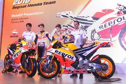 Marc Marquez, Repsol Honda Team, Dani Pedrosa, Repsol Honda Team, Alberto Puig, team manager Repsol Honda