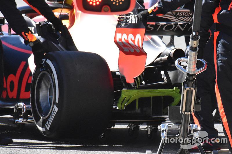 Detail bagian belakang Red Bull Racing RB14