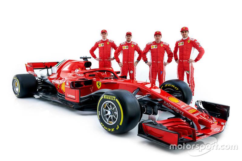 Daniil Kvyat, Sebastian Vettel, Kimi Raikkonen, Antonio Giovinazzi, Ferrari SF71H