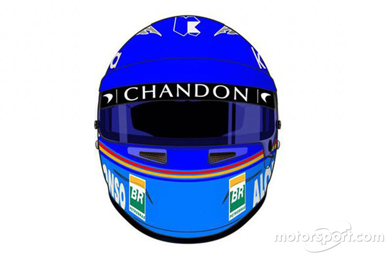 Helmet of Fernando Alonso, McLaren