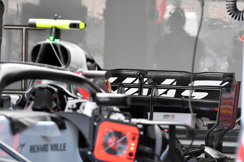 Haas F1 Team VF-18 rear wing
