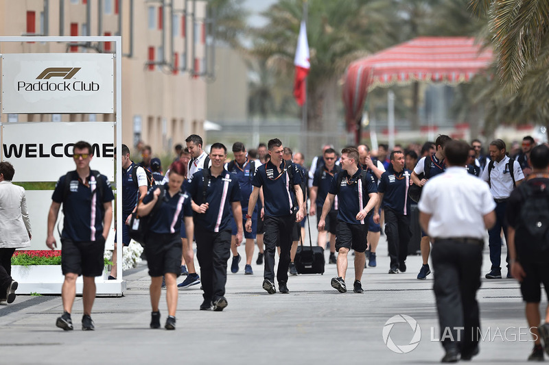 Teams arrive into the Paddock