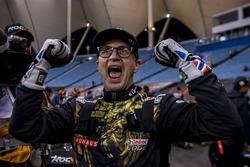 Petter Solberg celebrates