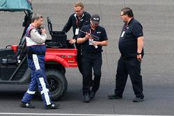 Asphaltarbeiten in Turn 1 in Indianapolis