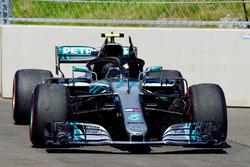 The car of Race retiree Valtteri Bottas, Mercedes-AMG F1 W09