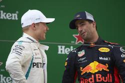 Podyum: Yarış galibi Daniel Ricciardo, Red Bull Racing, 2. Valtteri Bottas, Mercedes AMG F1