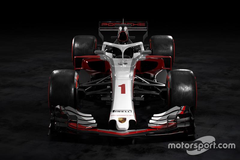 Концепція лівреї боліду Ф1 Porsche