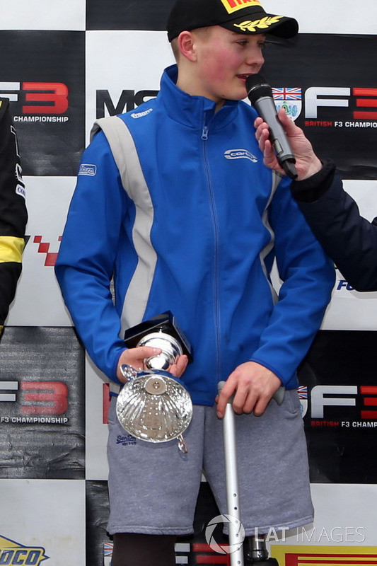 Podium: third place Billy Monger, Carlin