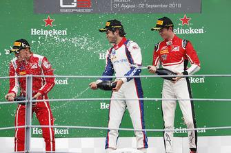 Podium : le vainqueur Pedro Piquet, Trident, second place Giuliano Alesi, Trident, third place Callum Ilott, ART Grand Prix