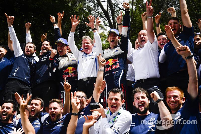 I Campioni 2018 del WRC Sébastien Ogier, Julien Ingrassia, Ford Fiesta WRC, M-Sport Ford, Malcolm Wilson