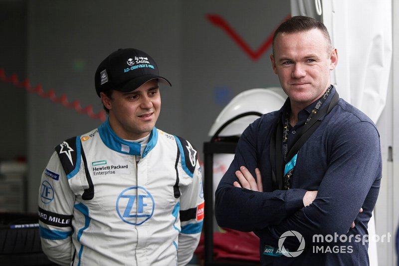 Felipe Massa, Venturi Formula E, with footballer Wayne Rooney