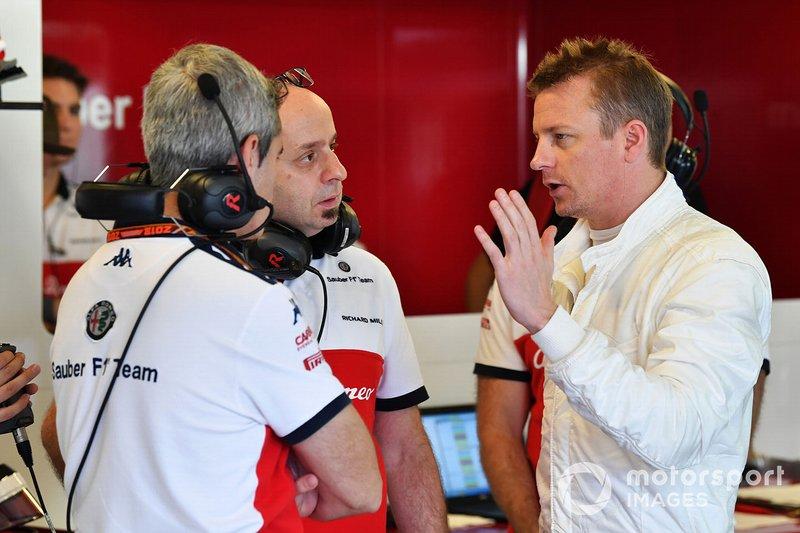 Kimi Raikkonen, Sauber con Simone Resta, diseñador de Sauber