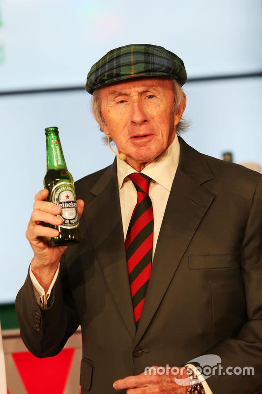 Jackie Stewart, en el anuncio de patrocinio de Heineken