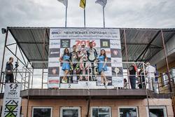 Подіум, клас Суперспорт: Переможець Костянтин Писарєв, друге місце Микита Калінін, третє місце Олександр Бичков
